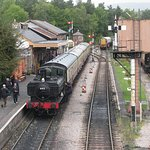 6412 waits to depart from Buckfastleigh.
