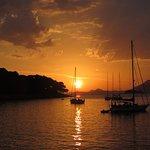 Sunset along coast at Ciparis