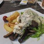Steak with mushrooms at Ciparis