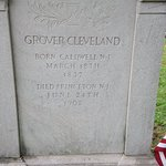 Inscription on Cleveland's headstone