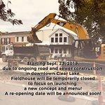 FIeldhouse Temporary Closing