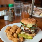 Burger with tots ($11)