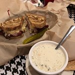 Reuben with chicken and wild rice soup