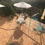 Breakfast dining on the terrace