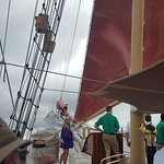 On deck of the American Rover