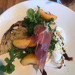 This was best salad of my life. Every flavor was incredible: prosciutto, honey, sweet peaches, a