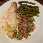 WALL EYE FISH with QUINOA and GREEN BEANS...SO MUCH FLAVOR!