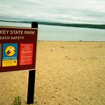 Sandy Beach At Petoskey State Park