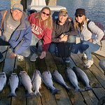 8 salmon we caught on our Rum Runners charter