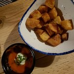 Crispy Potatos and spicy sauce - EXCELLENT