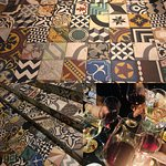 Crazy tiles give a very cosy feeling