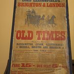 Timetable of the horse and carriage from Brighton to London return (often quicker than today's t