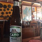 The real beer in Belize - Belikin - goes great with a Lamb Burger!