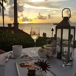 Good food , good wine , and sunset in the Keys. Life is good !