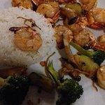 Crevettes au wok