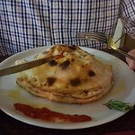 Ok restaurant not the best in San Blas Square. These were omitted from my review. Calzone hubby