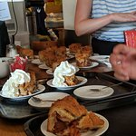 The café's famous and delicious apple pie