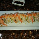 Roll with crab on top