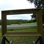 You can put yourselves into a picture frame of landscapes painted by the Hudson Valley artists.