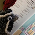 Sid planning his BeadTrails tour with the map brochure.