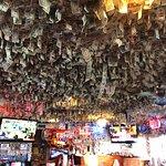 Dollar bills hanging everwwhee