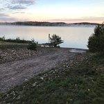Trail entrance, boat launch, dock