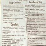Pamela's menu