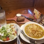 House Salad and Chicken Tortellini Soup