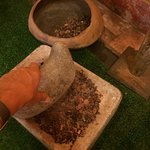 This is how they smash the coco beans to make chocolate