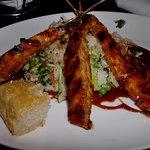Chicken Kabob on rice and veggies