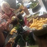 Having the most amazing lunch ever with great friends.  This place and lunch has been the highli
