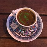 Turkish coffee- so yummy. Recommend having it w/milk if you can't handle the strong coffee like