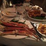 Crab legs and fried shrimp!