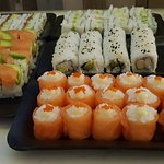 Assorted sushi at half price everyday!!