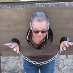 Hubby in the stocks