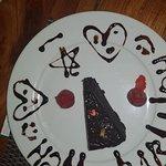 The free birthday cake slice