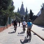 Enjoying the fresh air and gorgeous panoramic views of Barcelona with a cycling tour.
