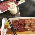 Sashimi and lassi