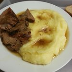 Hubby's veal, he mainly ate the mash as we don't consume red meat.