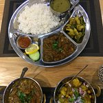 Chicken Curry, Lamb Thali, Aloo Channa