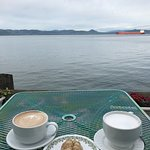 Morning Coffee/Tea with scone. Beautiful Views out sitting on the pier