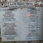 menus from October 2018