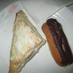Cherry turnover along with Eclair