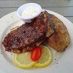 Blackened Swordfish was fresh & delicious.