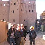 Mustafa, in yellow turban, showed us Ait Benhaddou Ksar on our way back..