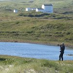 Scotty, Guide for Picture Perfect Tours, catching one of many scenery shots on Sable Island