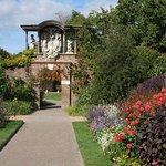 Border in walled garden