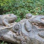 Sculpture on woodland walk