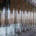 as paredes de vidro duplo ondulado