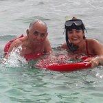 My grandpa was convinced to scuba dive!